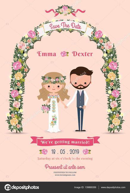 Convites de casamento: ESCOLHE 1 de 2 3