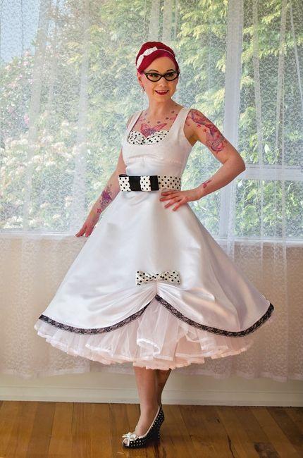 Vestidos novia pin up