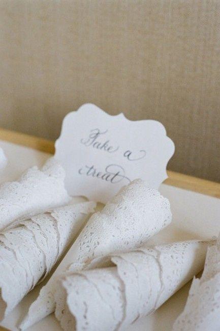 Decoracion y detalles de bodas hechas con blondas de papel - Blondas de papel ...