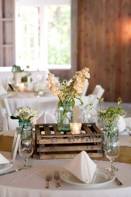 Decoracion de bodas con cajones for Decoracion bodas originales