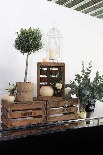 Decoracion de bodas con cajones fotos - Cajas de decoracion ...