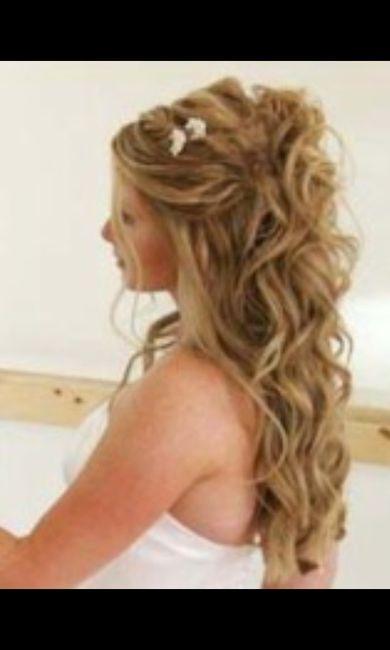 Peinados semirecogidos con ondas