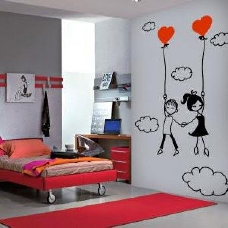 Vinilos rom nticos for Como decorar un cuarto de pareja