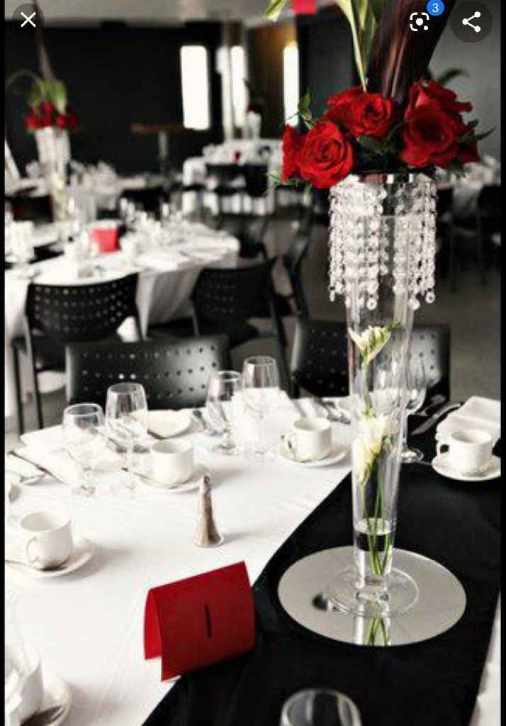 Nuestra deco Blanco , negro y rojo  y detalles de brillos .... - 1