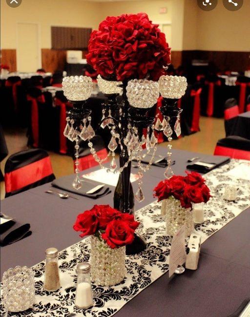 Nuestra deco Blanco , negro y rojo  y detalles de brillos .... 3