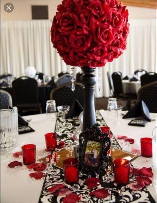 Nuestra deco Blanco , negro y rojo  y detalles de brillos .... 4