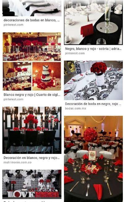 Nuestra deco Blanco , negro y rojo  y detalles de brillos .... 5