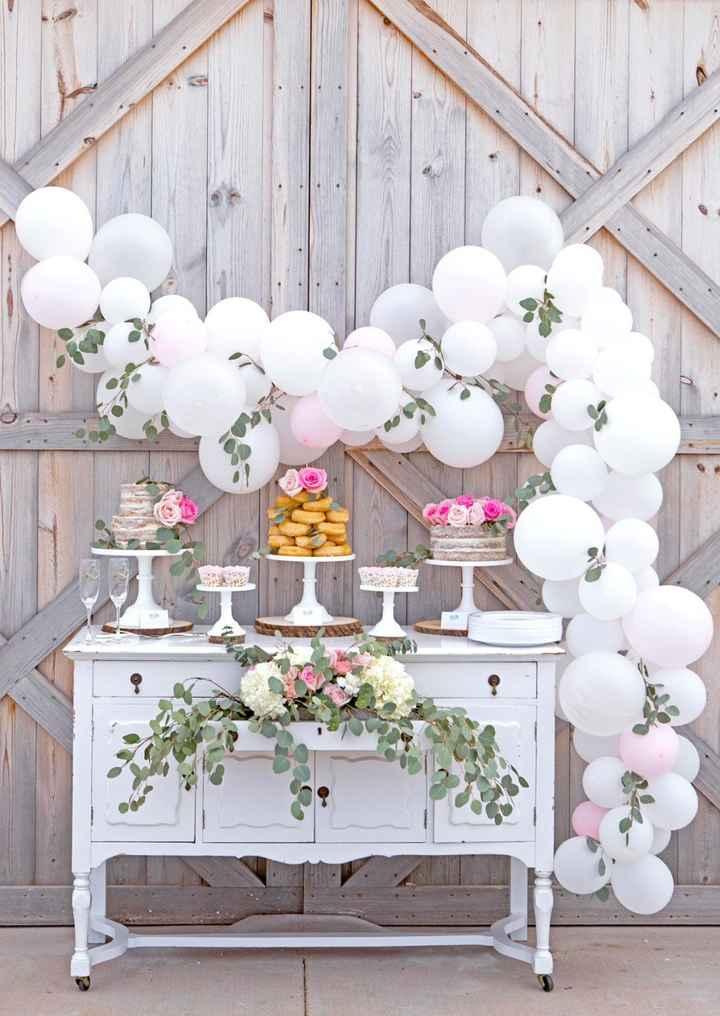 1-Decoración con globos para casamientos