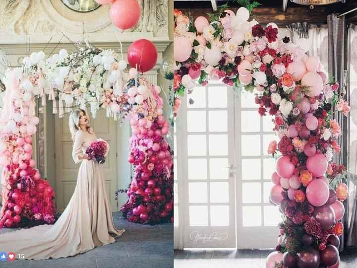 3-Decoración con globos para casamientos