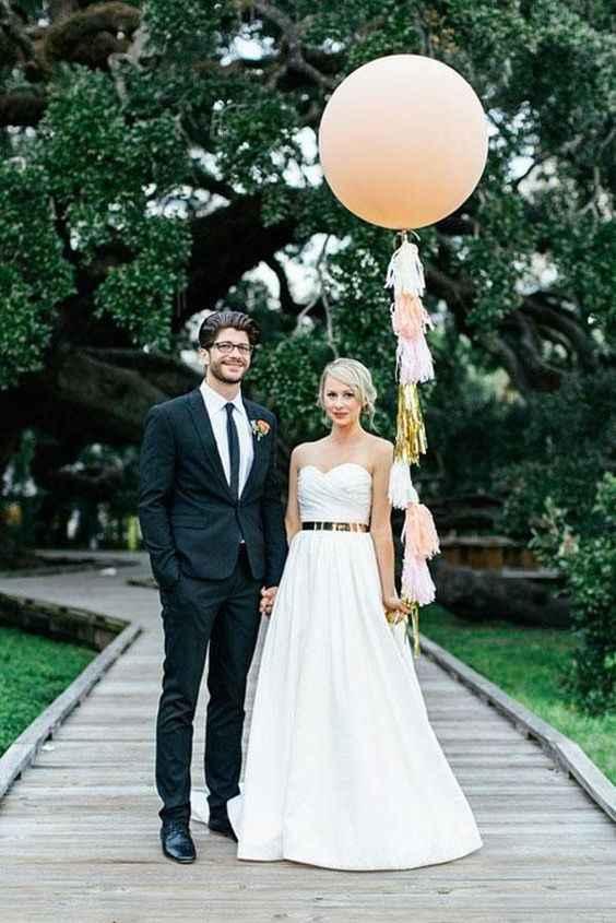 4-Decoración con globos para casamientos