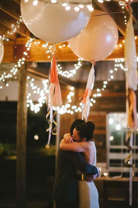 5-Decoración con globos para casamientos