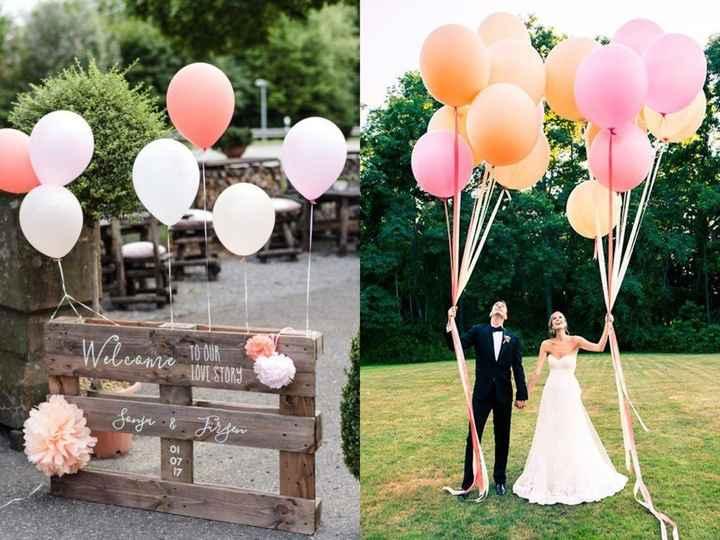 8-Decoración con globos para casamientos