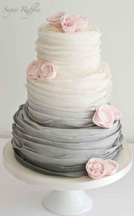 1-Torta para casamientos en degradé