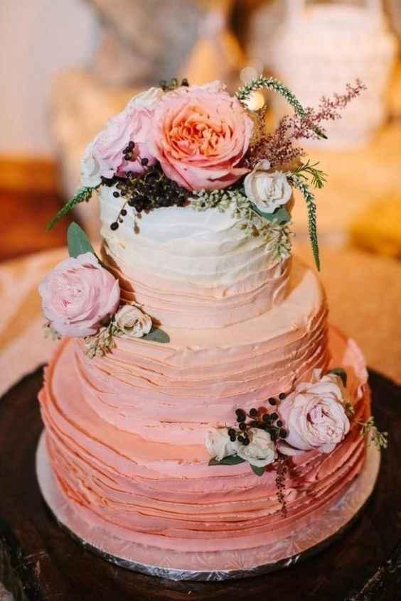 2-Torta para casamientos en degradé