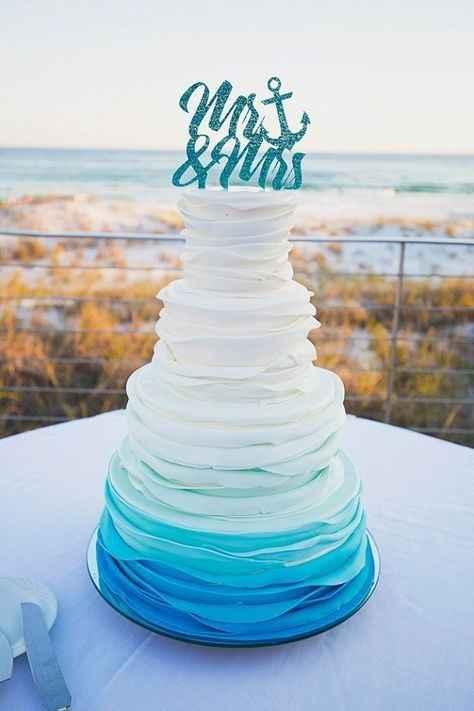 6-Torta para casamientos en degradé