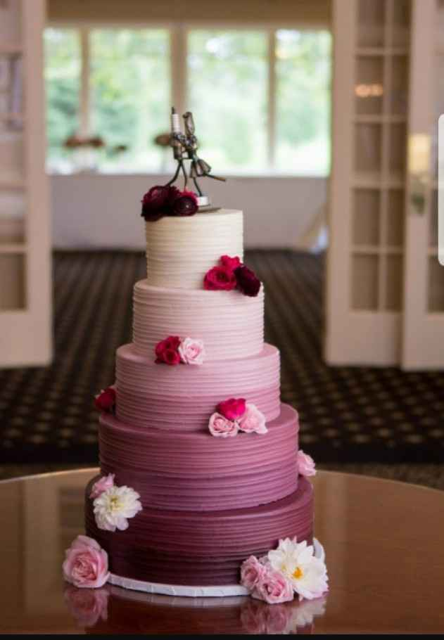 8-Torta para casamientos en degradé