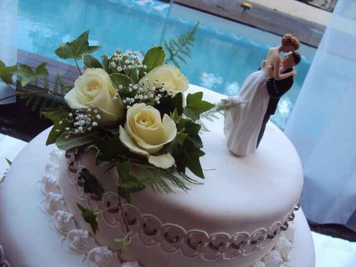 Cake topper de novios para torta de casamiento