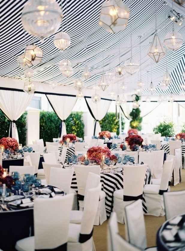 1-Decoración a rayas para casamientos