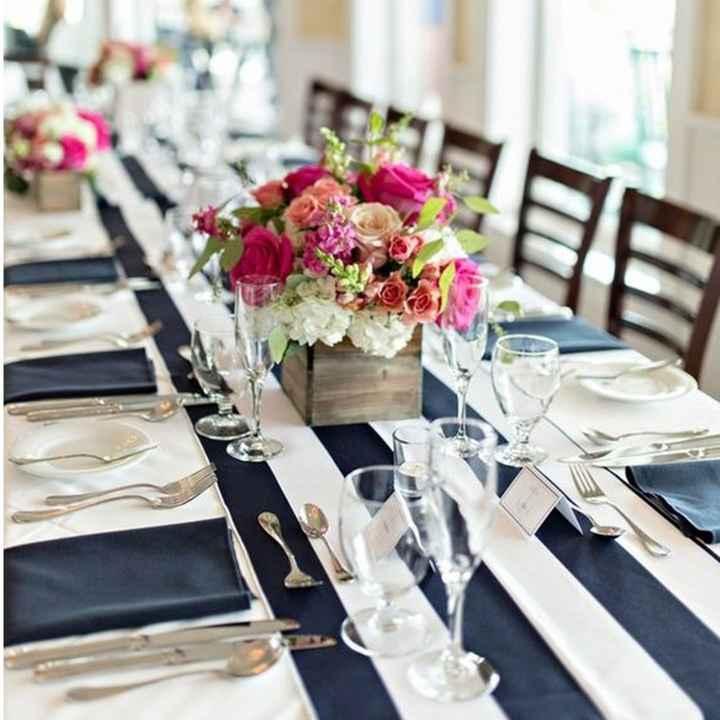 2-Decoración a rayas para casamientos