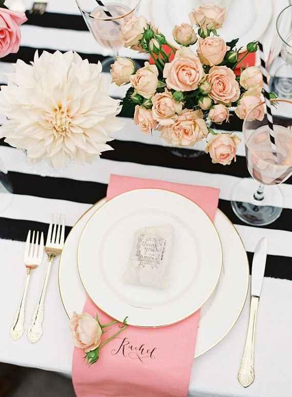 5-Decoración a rayas para casamientos