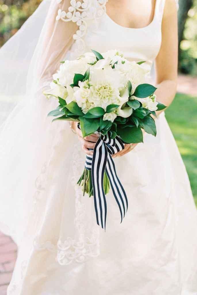 6-Decoración a rayas para casamientos