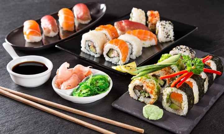 2-Sushi en la recepción de casamiento