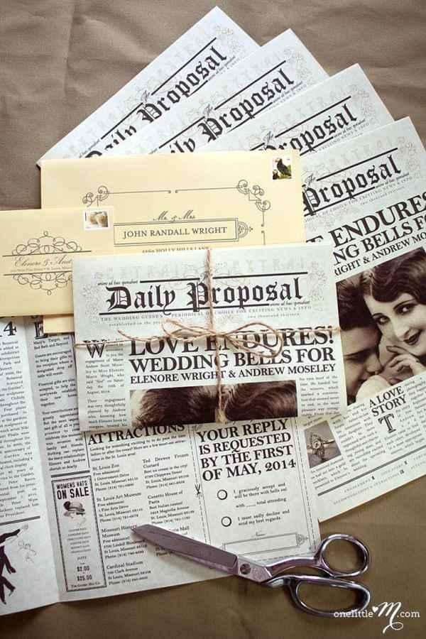1-Invitaciones de casamiento originales y creativas