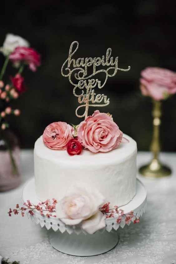 1-Torta de casamiento de un solo piso