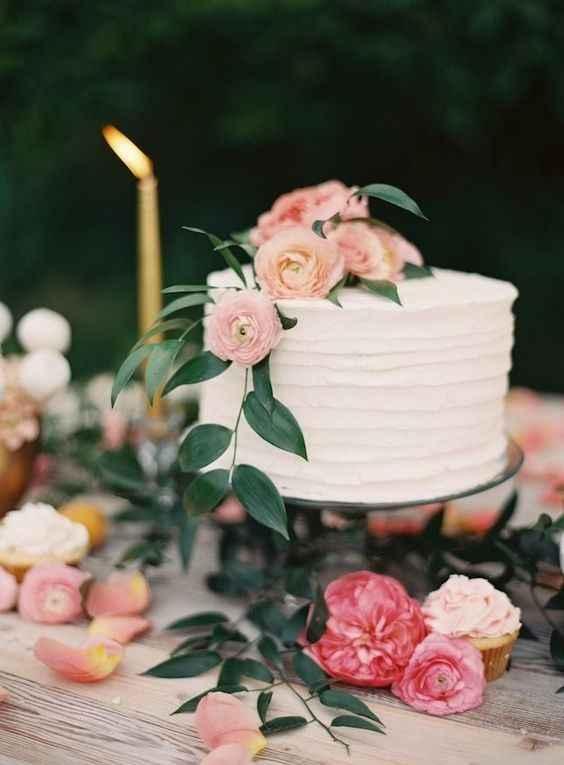 2-Torta de casamiento de un solo piso