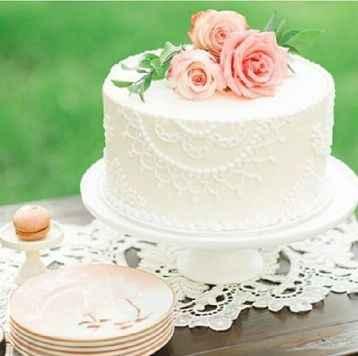 3-Torta de casamiento de un solo piso