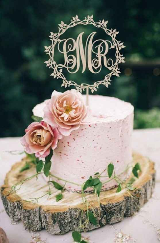 5-Torta de casamiento de un solo piso