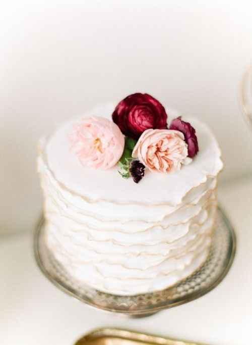6-Torta de casamiento de un solo piso