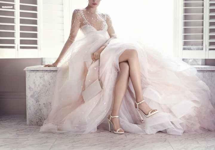 Zapatos de novia abierto