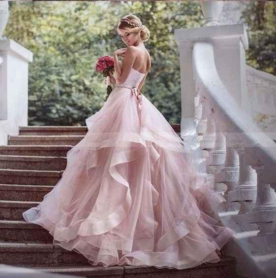 1-Vestidos de novia color rosa