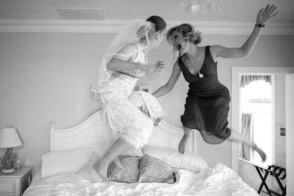 5-Fotos de madre e hija en día del casamiento