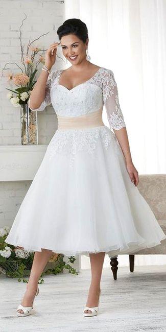 Vestidos de novia gorditas para civil