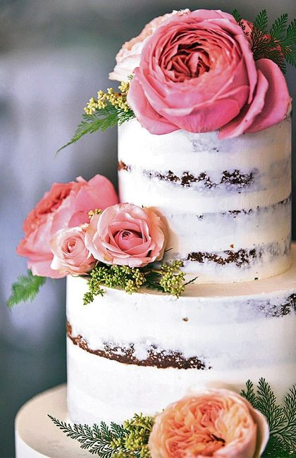 Tu Torta De Casamiento Con Flores Naturales O De Azucar