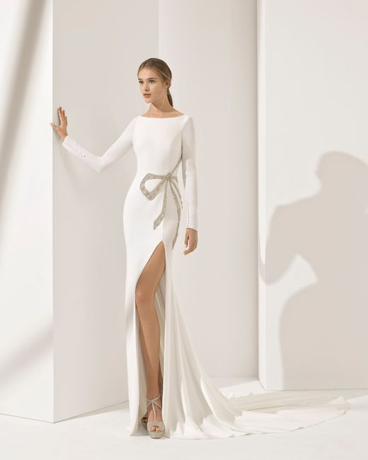 6 vestidos de novias con tajo! ¿cuál te animás a usar?🤗👰