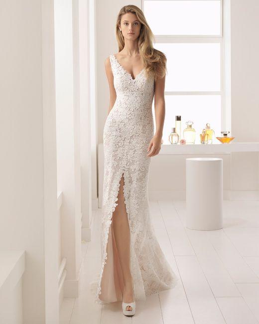Vestido de novia con tajo