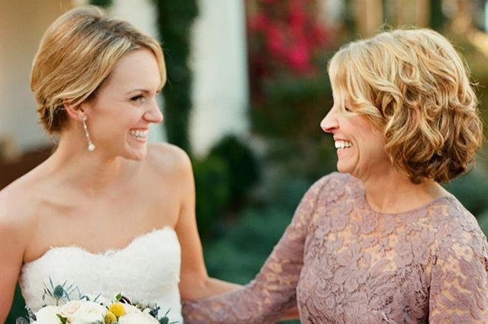 sorprender a mamá en el día del casamiento