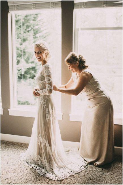 1-Fotos de madre e hija en día del casamiento