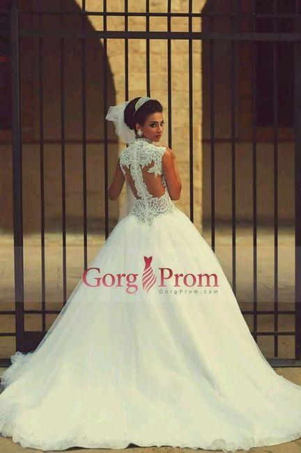 Vestido de novia corte princesa 2019