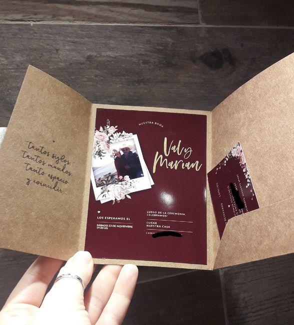 Invitaciones + regalo 😍 3