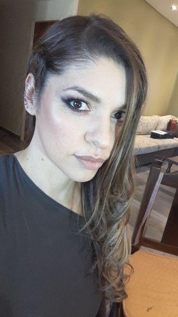 Prueba de makeup y peinado!!💆🏼♀️👄💄 7