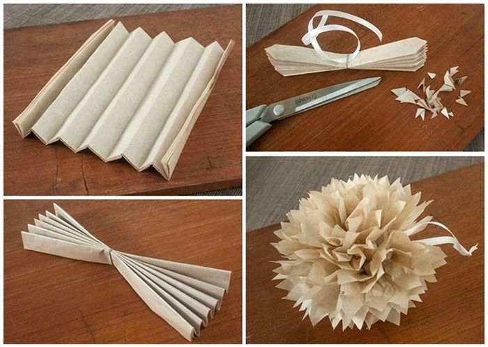 Como hacer pompones con papel crepe paso a paso imagui - Como hacer pompones con lana ...
