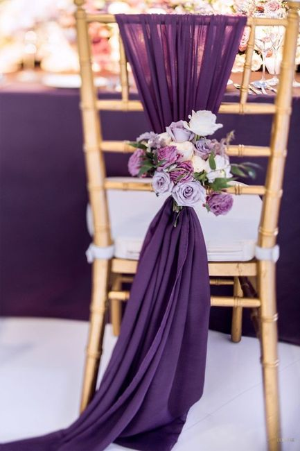 ¿Te animás a usar este color en tu boda?💜 9
