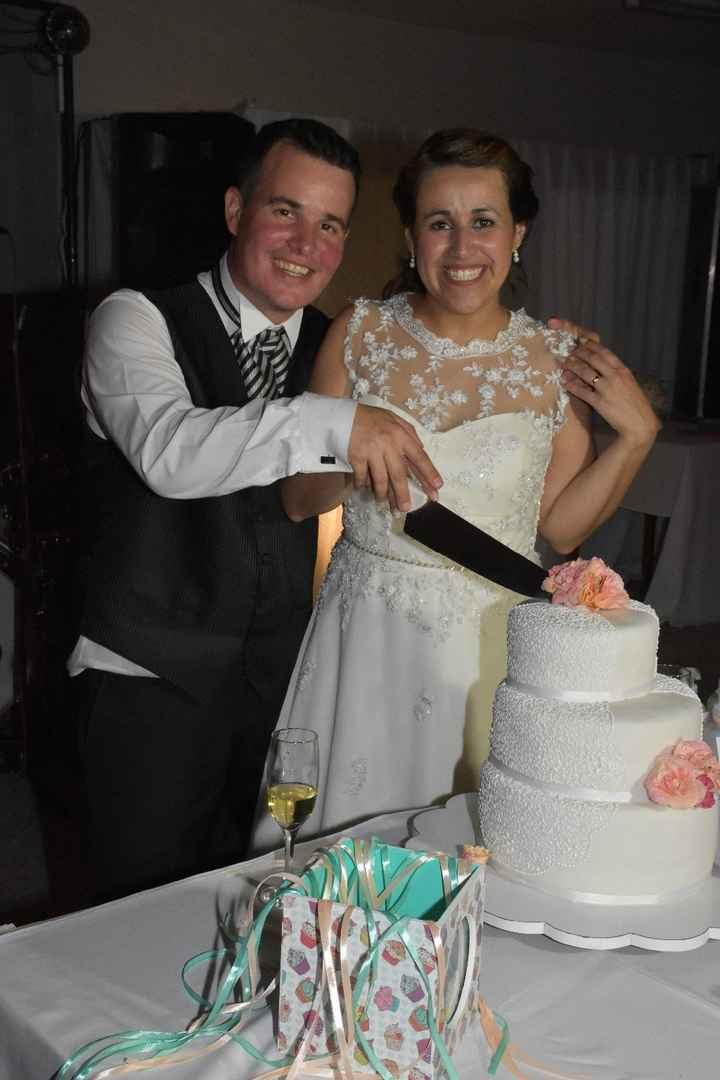 Cortando la torta