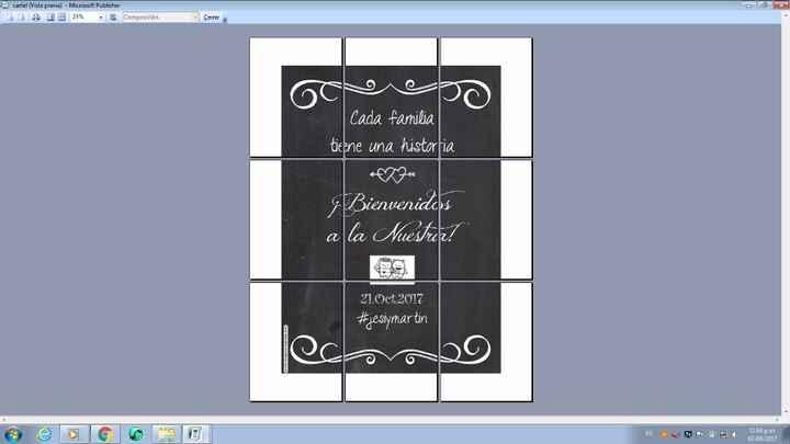 1) diseño en tamaño 50x70 para imprimir en hojas A4