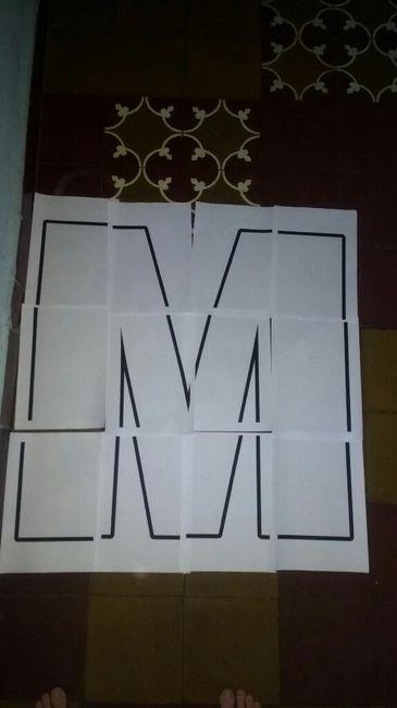 Letras gigantes en cartón! 1