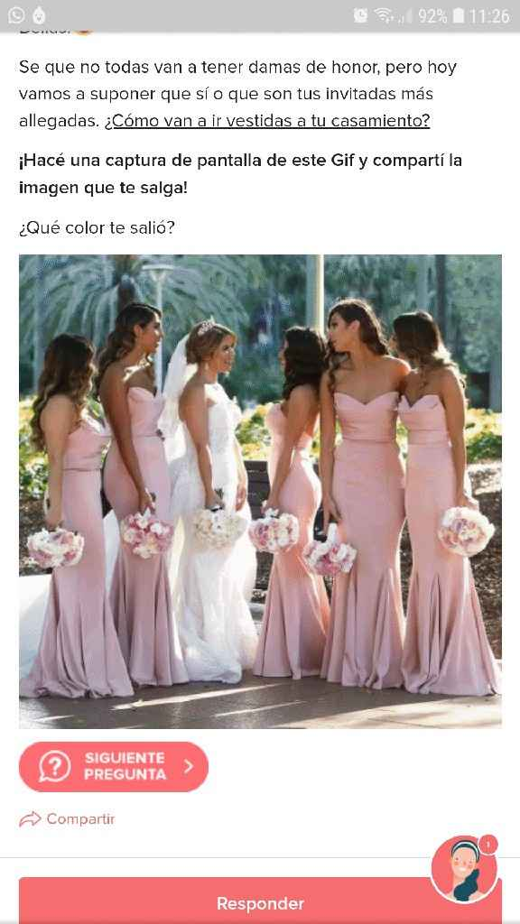 ¡Capturá tus DAMAS DE HONOR! - 1